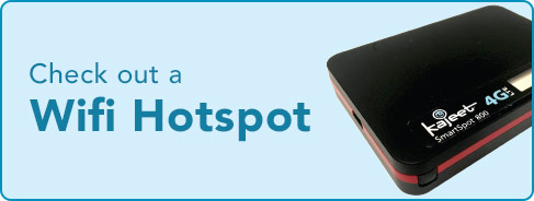 Check out a Wifi Hotspot