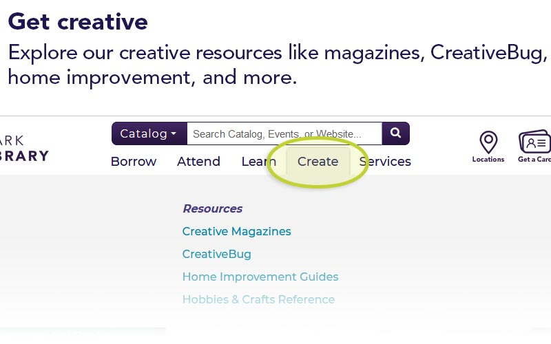 Get creative | Explore our creative resources like magazines, CreativeBug, home improvement, and more.